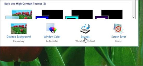 Cách tắt âm thanh khởi động trong Windows 8