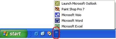 biểu tượng xuống thanh Taskbar