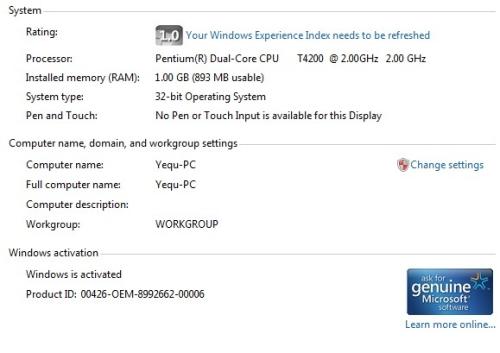 Các cách kiểm tra cấu hình máy tính trong Windows