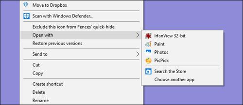 Xóa chương trình ở 'Open With' trong Windows
