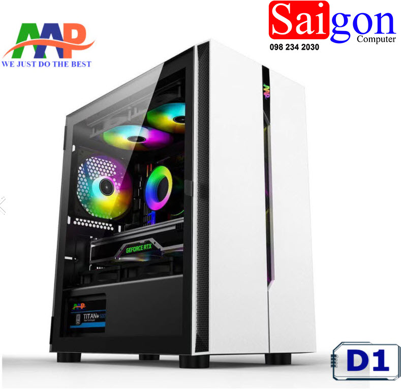 CASE AAP D1 White GAMING giá rẻ