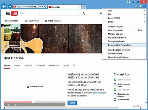 Lỗi Adobe Flash không làm việc trong Internet Explorer 11