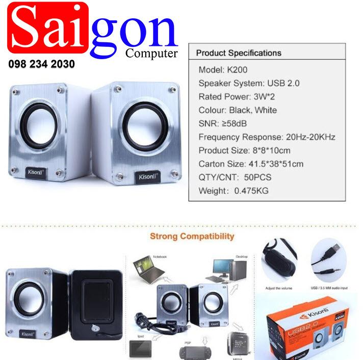 Loa vi tính Kisonli K200 giá rẻ