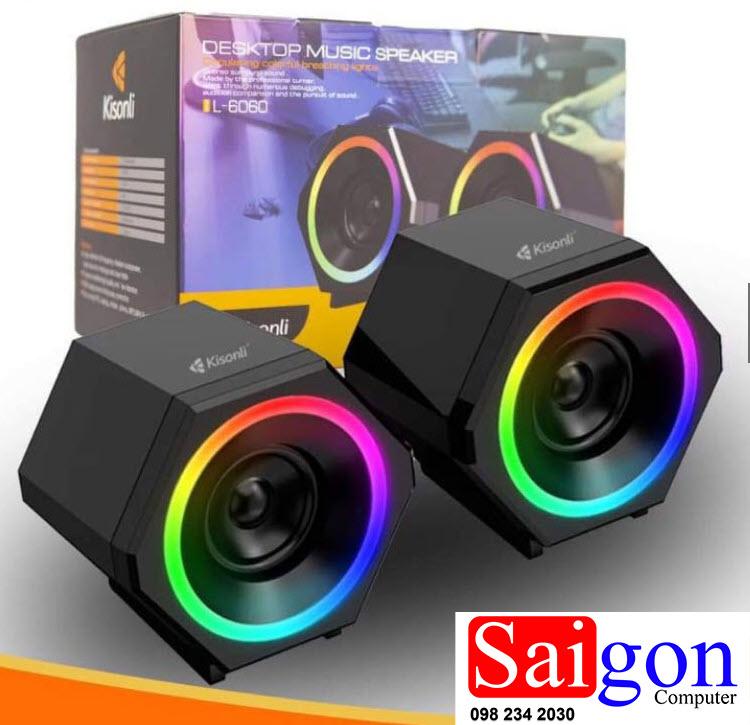 Loa 2.0 Kisonli L-6060 LED văn phòng