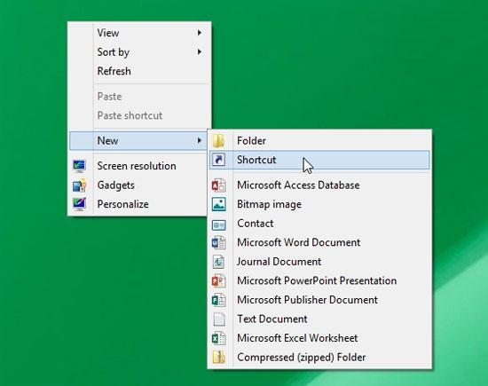 Hướng dẫn tạo Shortcut Tìm kiếm trên Desktop Windows