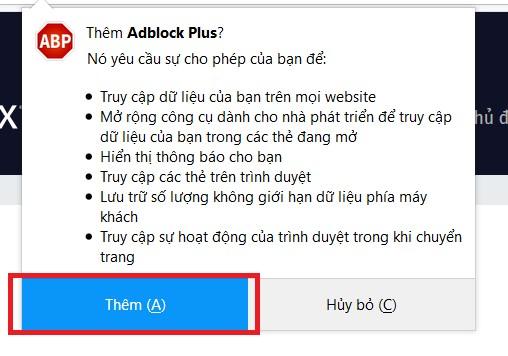 Cài đặt Firefox tắt quảng cáo