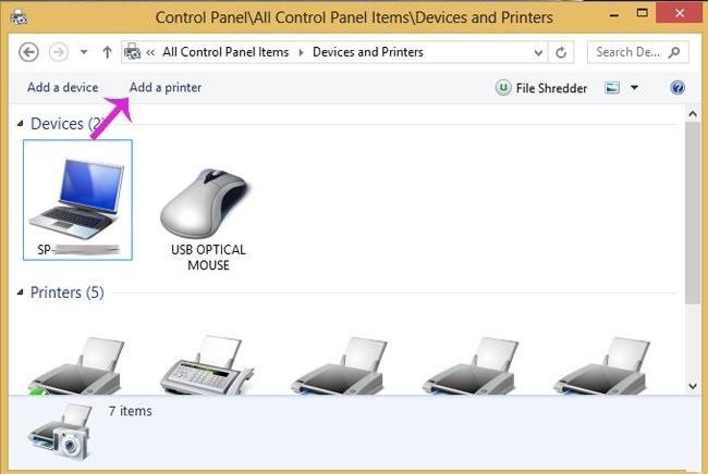 Các bước chia sẻ máy in qua mạng LAN_1