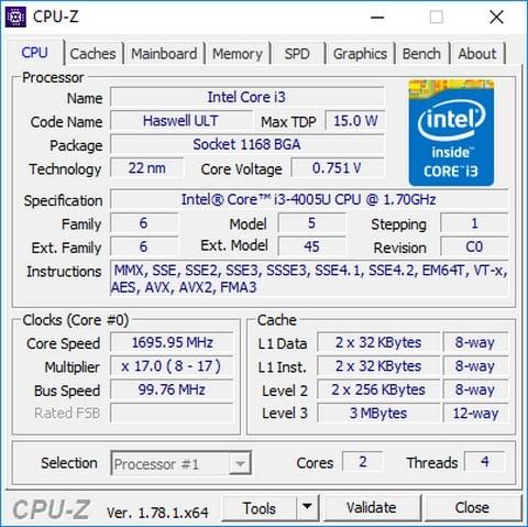 Phần mềm kiểm tra cấu hình máy tính