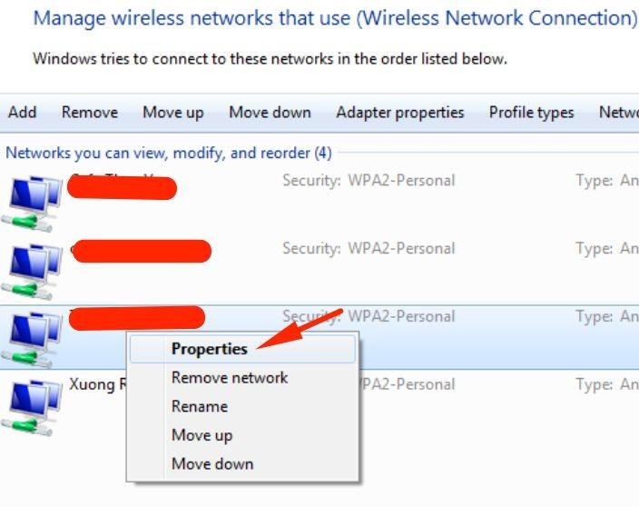 Cách xem lại pass wifi