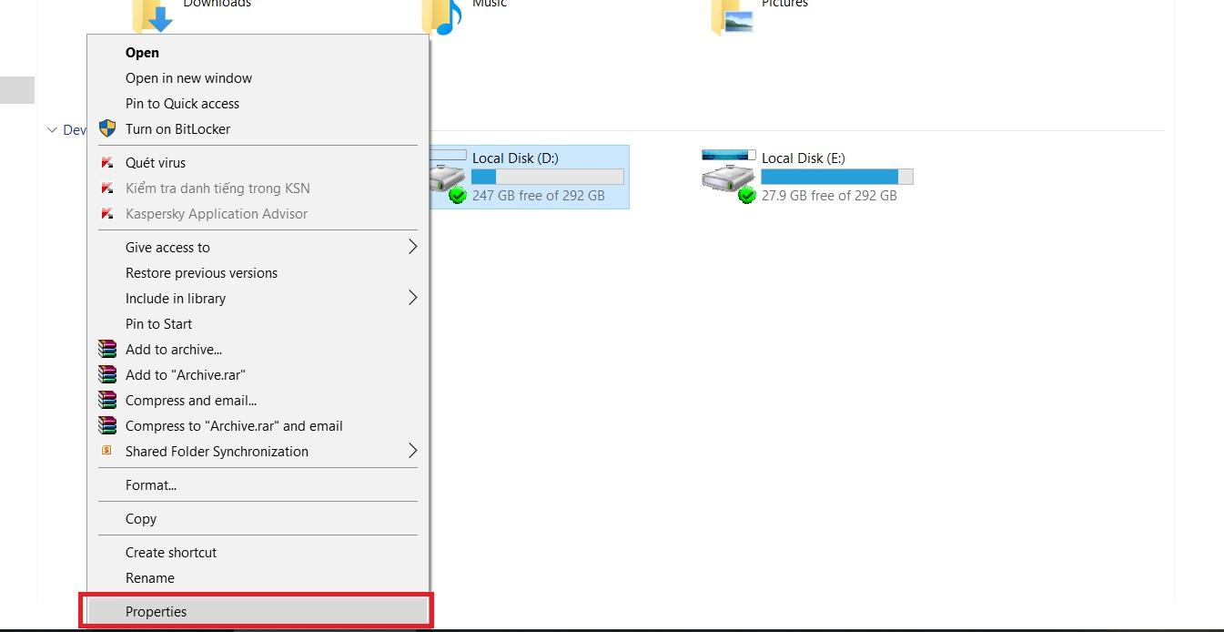 Check disk khắc phục lỗi truy cập bị từ chối