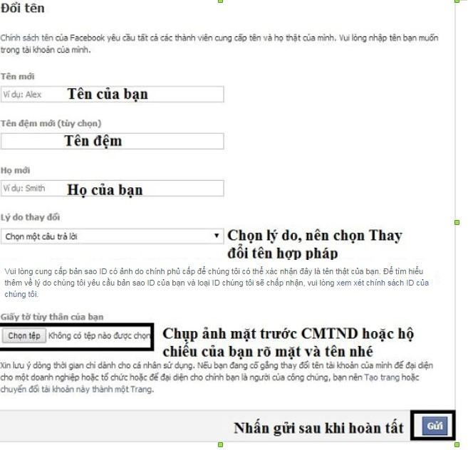 Hướng dẫn cách đổi tên facebook