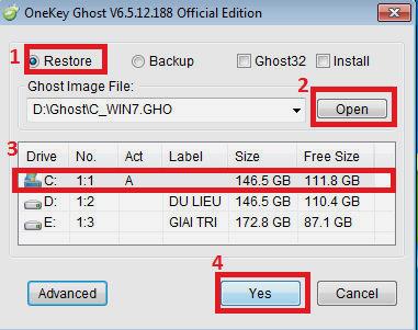 Hướng dẫn Ghost máy bằng Onekey Ghost