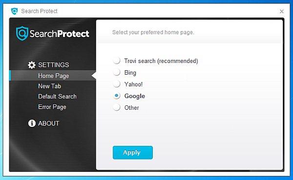 go search protect khoi may tinh