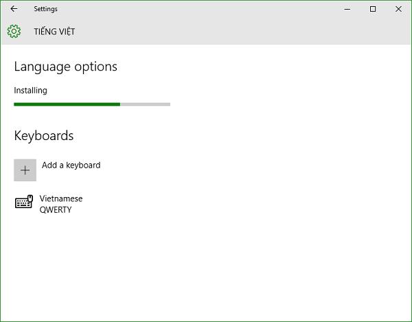 Hướng dẫn cài tiếng việt cho Windows 10