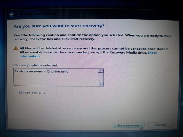 Hướng dẫn recovery máy sony vaio win 7 không mất dữ liệu