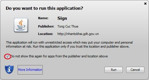 Thông báo hoàn tất cài đặt Java