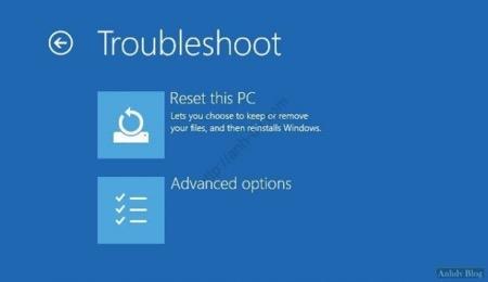 Hướng dẫn  truy cập Advanced Options Windows 10/8.1/8