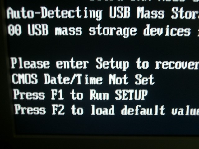 Sửa lỗi ấn F1 khi máy tính khởi động
