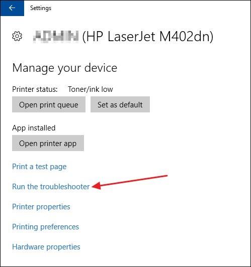 Sửa lỗi printer user offline