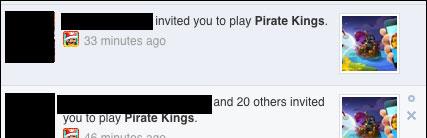 Cách chặn lời mời từ Pirate Kings