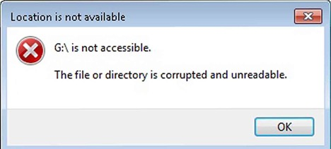 Hướng dẫn sửa lỗi file or directory is corrupted and unreadable USB