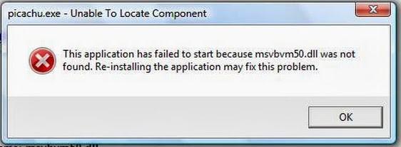 Lỗi thiếu file DLL