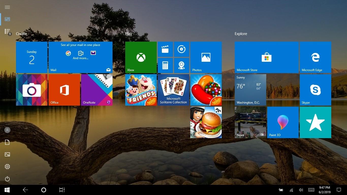Màn hình desktop bị mất biểu tượng