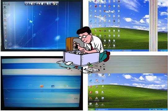 Màn hình laptop bị sọc ngang, sọc dọc?