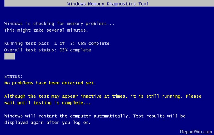 Phần mềm kiểm tra Ram