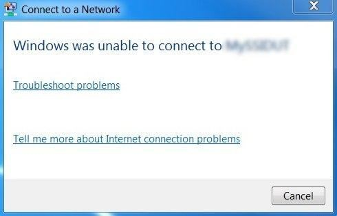 Lỗi Windows was unable to connect to… Wifi