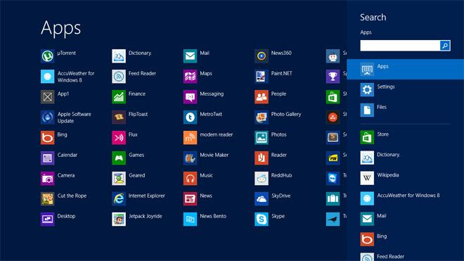 Thêm All app trên Windows 8