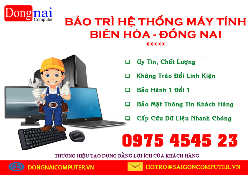 Bảo trì máy tính Biên Hòa Đồng Nai