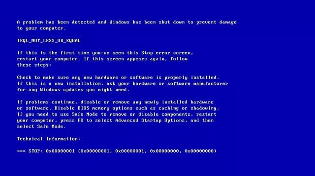 Sửa lỗi IRQL NOT LESS OR EQUAL trên Windows