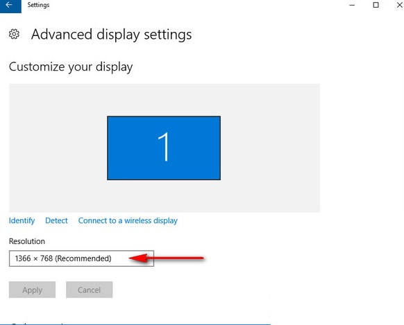 Hướng dẫn chỉnh lại độ phân giải trên Windows 10
