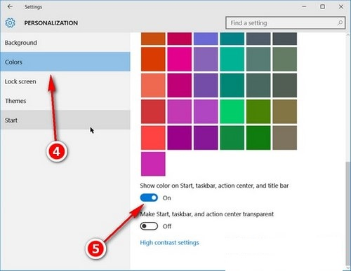 Hướng dẫn đổi màu trên thanh Taskbar của Windows 10