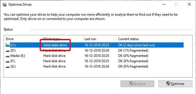 Cách kiểm tra máy tính dùng SSD hay HDD