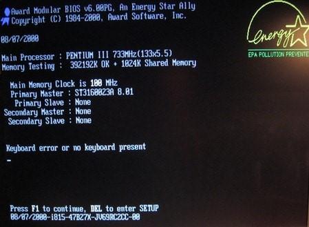 Chỉ dẫn sửa lỗi keyboard error
