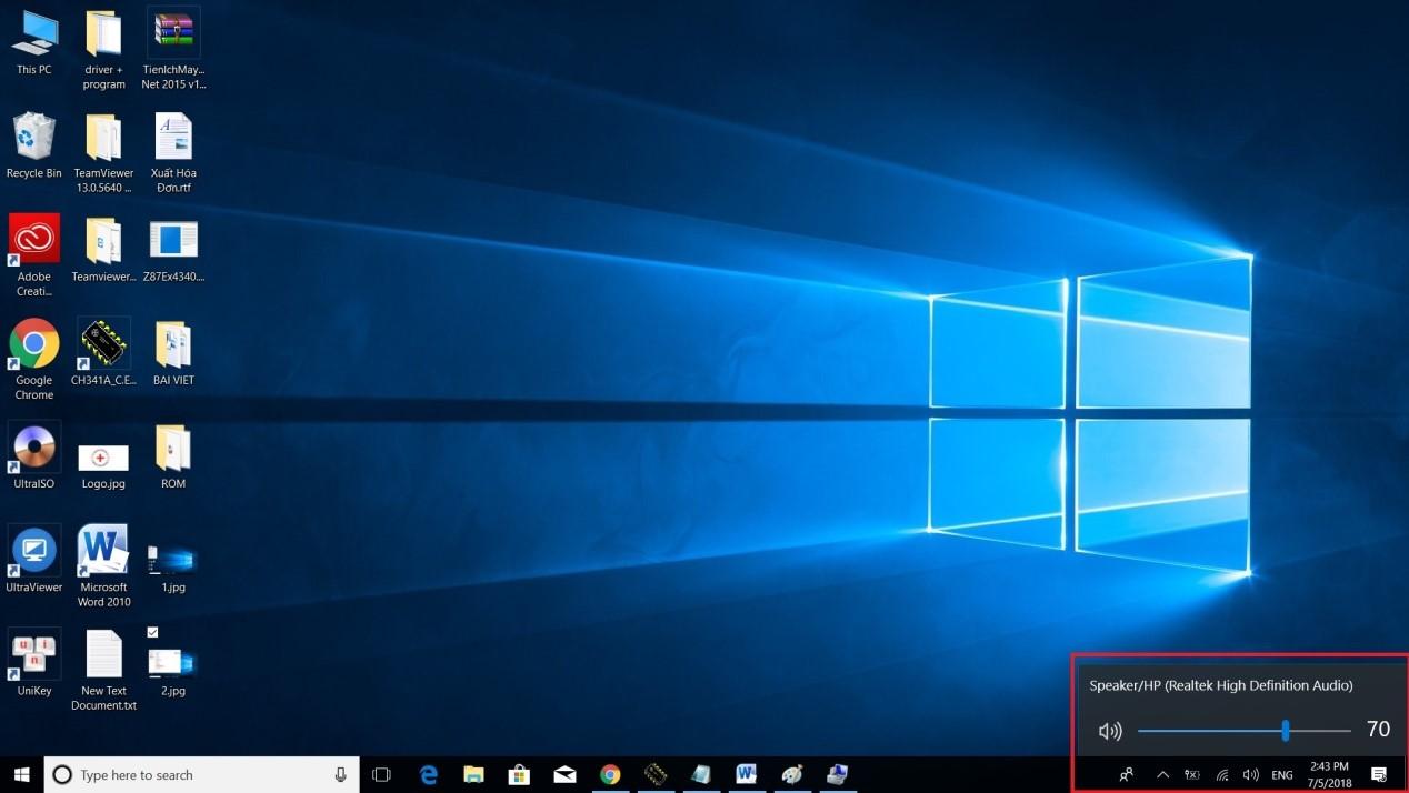 Laptop bị mất âm thanh