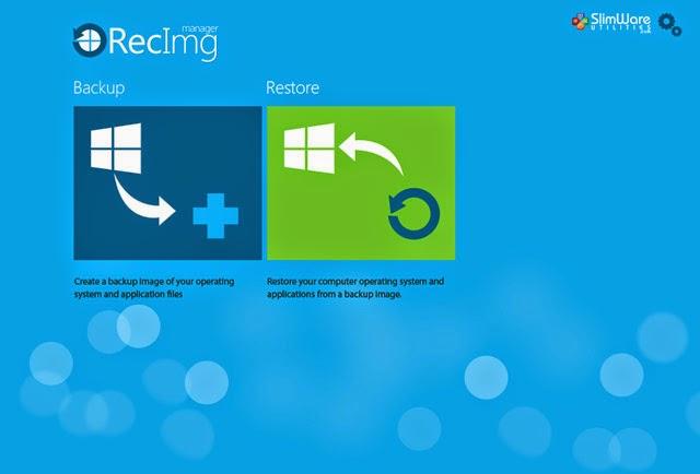 Backup và Restore lại Windows 8 bằng RecImg Manager