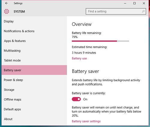 Một số cách đơn giản tiết kiệm pin laptop cho Windows 10