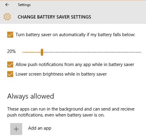 Bật tính năng tiết kiện Pin Laptop trên Windows 10