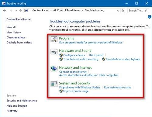Xem lỗi trong hệ điều hành Windows 10