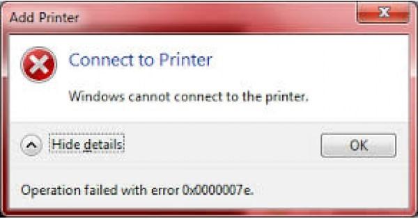 Cách xử lý máy tính báo lỗi windows cannot connect to the printer