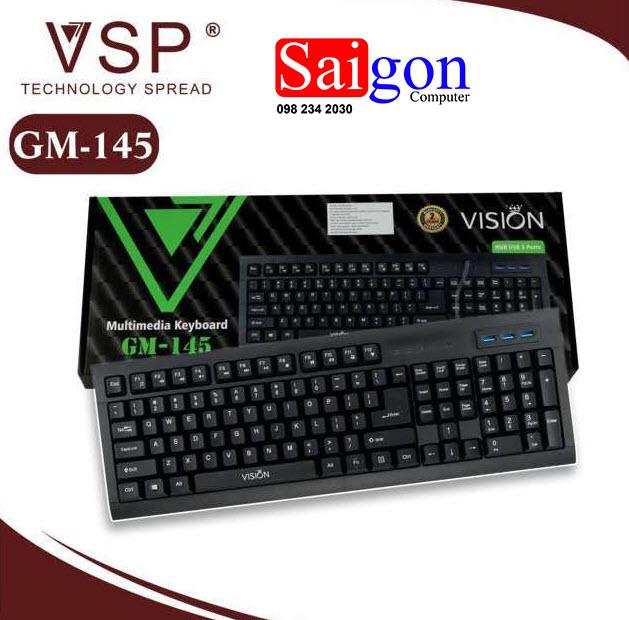 Keyboard VISION GM-145 USB Chính hãng