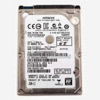 ổ cứng laptop 750gb sata hitachi 7200rpm mới