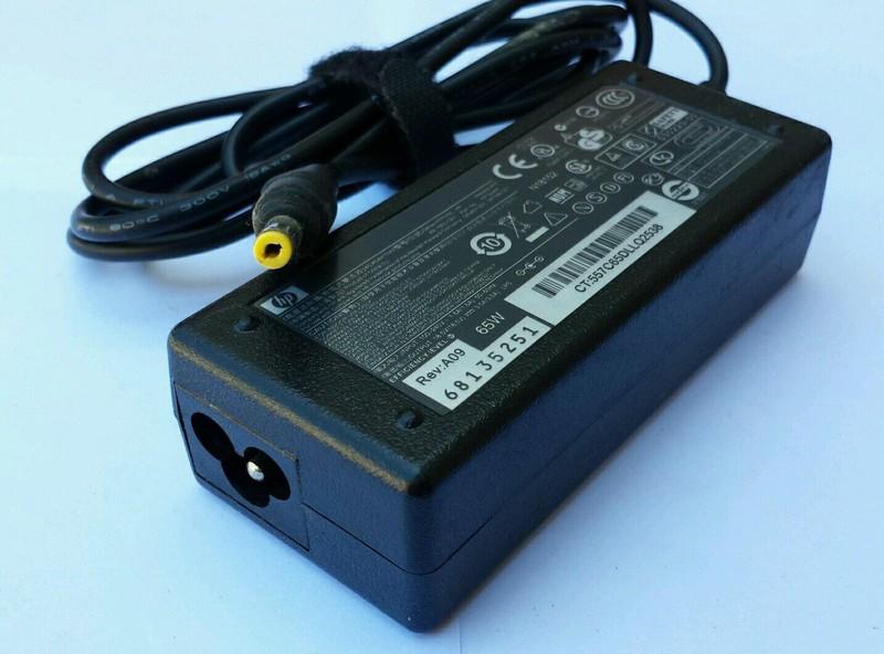 Adapter Laptop HP 18.5V - 3.5A đầu thường (vàng)