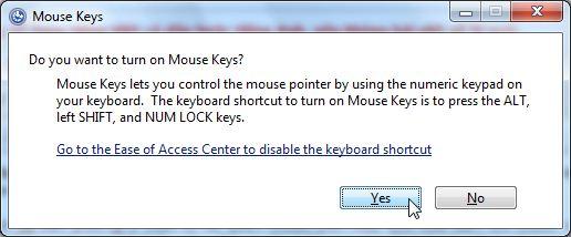 Sử dụng bàn phím thay thế cho chuột bị hỏng Win XP, 7, 8