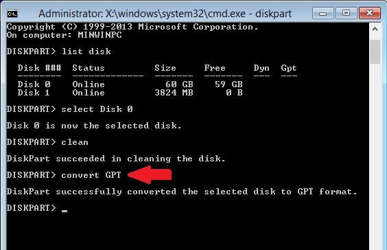 Các bước sửa lỗi the selected disk has an MBR partition table_6
