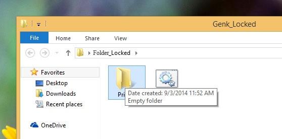 Tự tạo mật khẩu bảo vệ thư mục mà không dùng đến phần mềm