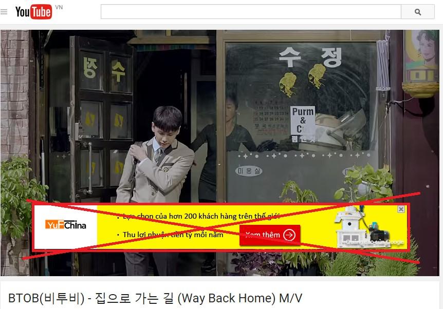 Tắt quảng cáo trên Google Chorme